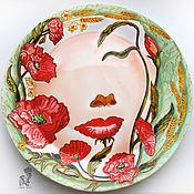 Картины и панно handmade. Livemaster - original item Based on Octavio Ocampo-hand-painted plate on the wall. Handmade.