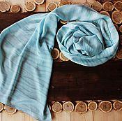 """Аксессуары ручной работы. Ярмарка Мастеров - ручная работа Шелковый шарф """"Рябь на воде"""". Handmade."""