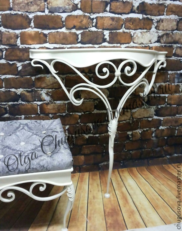 Мебель ручной работы. Ярмарка Мастеров - ручная работа. Купить Аристократ. Handmade. Ковка, прихожая, столик, консоль, ковка