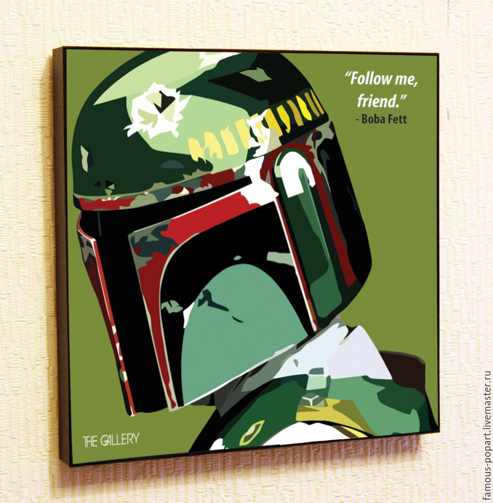 Picture poster Boba Fett Star Wars Pop Art, Pictures, Moscow,  Фото №1