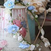 """Украшения ручной работы. Ярмарка Мастеров - ручная работа Украшение из цветов на голову """" Летнее небо"""", диадема. Handmade."""