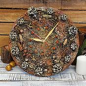 Для дома и интерьера ручной работы. Ярмарка Мастеров - ручная работа Часы Лесные. Handmade.