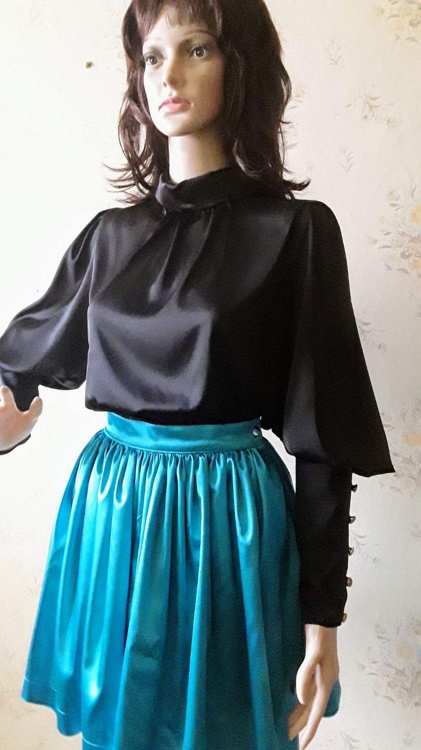 06d1bc01d16 Нарядная блузка из атласа – купить в интернет-магазине на Ярмарке ...