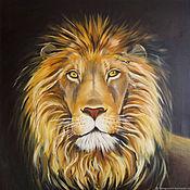 Картины и панно handmade. Livemaster - original item Oil painting lion. Handmade.