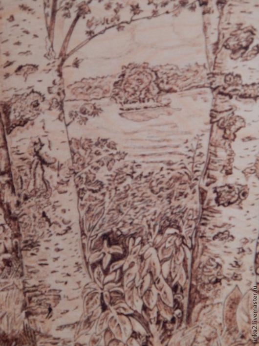 """Пейзаж ручной работы. Ярмарка Мастеров - ручная работа. Купить Картина """"Березы"""". Handmade. Коричневый, березы, ностальгия, пейзаж"""