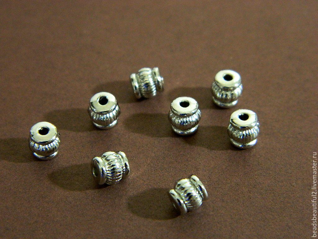 Separator beads Spicer, color silver, 5 x 4 mm. Price is for 10 PC, Beads1, Saratov,  Фото №1