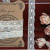 Материалы для творчества ручной работы. Ярмарка Мастеров - ручная работа Кружево паутинка айвори 15 мм. Handmade.