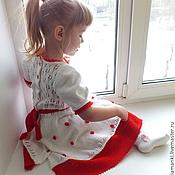 Работы для детей, handmade. Livemaster - original item dress Winter rose knitted children`s author. Handmade.