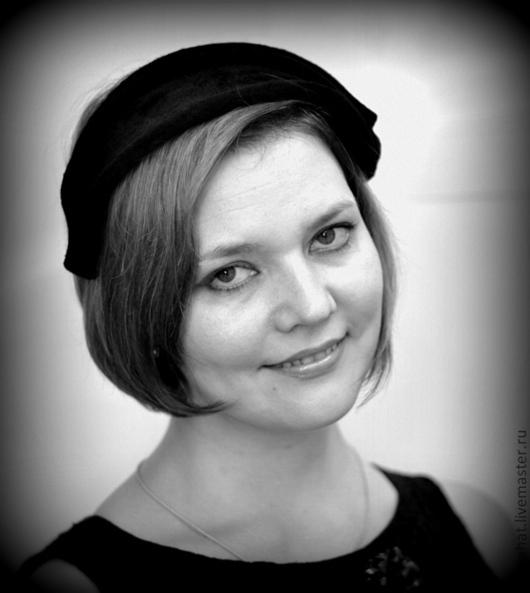 """Шляпы ручной работы. Ярмарка Мастеров - ручная работа. Купить Шляпа накладка """"Черный бархат"""". Handmade. Черный, винтаж шляпа"""