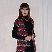 """Одежда ручной работы. Ярмарка Мастеров - ручная работа Пальто вязаное без рукавов """"Color"""". Handmade."""