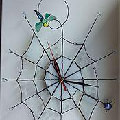 """Для дома и интерьера ручной работы. Ярмарка Мастеров - ручная работа Часы """" Паутинка"""". Handmade."""