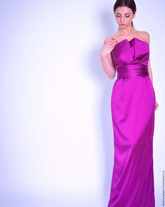 Платья ручной работы. Ярмарка Мастеров - ручная работа. Купить Платье Violet ray. Handmade. Фиолетовый, дизайнерская одежда