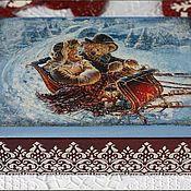 """Для дома и интерьера ручной работы. Ярмарка Мастеров - ручная работа Шкатулка """"В гости к Деду Морозу"""". Handmade."""