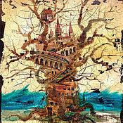 """Картины и панно ручной работы. Ярмарка Мастеров - ручная работа """"Бежевый воздух"""".. Handmade."""