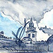Картины и панно ручной работы. Ярмарка Мастеров - ручная работа Киевский вокзал. Handmade.