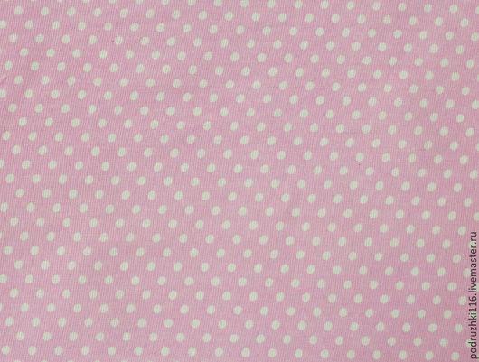 Шитье ручной работы. Ярмарка Мастеров - ручная работа. Купить Ткань Хлопок Мелкий горошек Розовый. Handmade. Бязь
