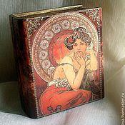 Для дома и интерьера handmade. Livemaster - original item The book -box in explanation And. flies. Handmade.