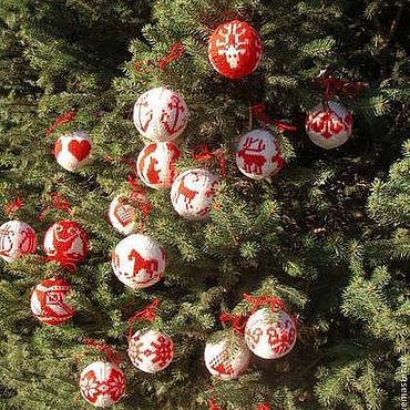 Подарки к праздникам ручной работы. Ярмарка Мастеров - ручная работа Шары на елку Новый год. Handmade.