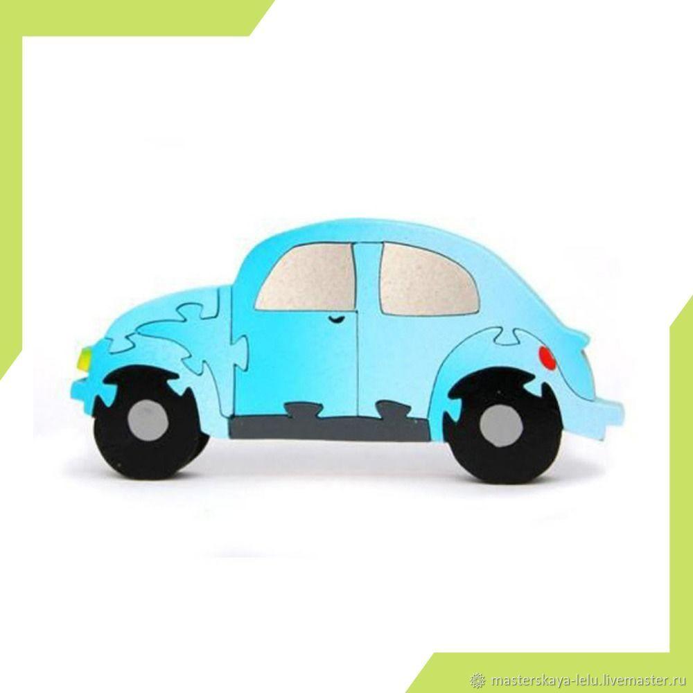 Пазл деревянный Машинка Жук, Развивающие игрушки, Петрозаводск, Фото №1