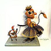 Мягкие игрушки ручной работы. Ярмарка Мастеров - ручная работа Светская львица Рита и собачка ее Афродита (тоже светская). Handmade.