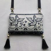 Русский стиль handmade. Livemaster - original item Handbag-purse with birds. Handmade.