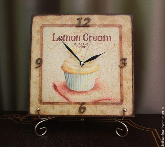 """Часы для дома ручной работы. Ярмарка Мастеров - ручная работа. Купить Часы  """"Lemon Cream"""". Handmade. Часы настенные"""