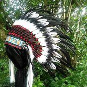Одежда handmade. Livemaster - original item Double Feathers Indian Headdress, Native American Warbonnet. Handmade.