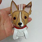 Брелок ручной работы. Ярмарка Мастеров - ручная работа Брелок собака той-терьер кожа. Handmade.