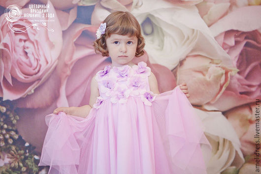 Одежда для девочек, ручной работы. Ярмарка Мастеров - ручная работа. Купить Фиалковое платье. Handmade. Сиреневый, фиалка