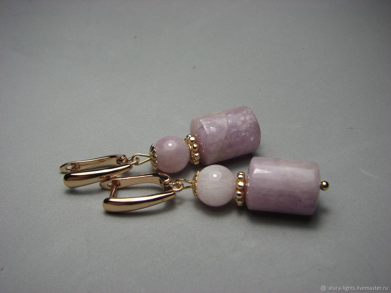 Earrings kunzite (spodumene) 'Purple dream', Earrings, Moscow,  Фото №1