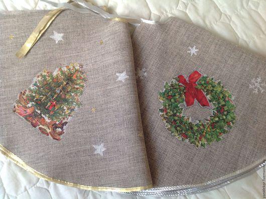 Коврик под елку. Юбка для елки. Коврик. Коврик для елочки. Новогодний коврик. Подарок на Новый год.