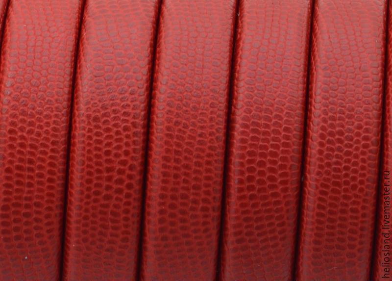 Кожаный шнур REGALIZ с принтом, Для украшений, Москва, Фото №1