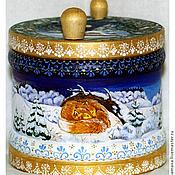 Подарки к праздникам ручной работы. Ярмарка Мастеров - ручная работа Шкатулка новогодняя. Handmade.