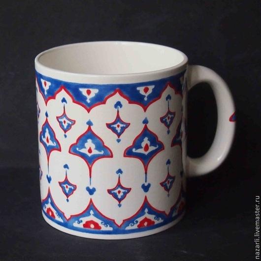 Декоративная посуда ручной работы. Ярмарка Мастеров - ручная работа. Купить Чашка Изникское кружево 0,5 литра. Handmade.