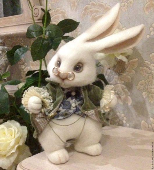 Игрушки животные, ручной работы. Ярмарка Мастеров - ручная работа. Купить Белый Кролик Алисы. Handmade. Белый кролик