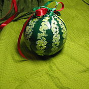Подарки к праздникам handmade. Livemaster - original item Christmas ball with painted Watermelon. Handmade.