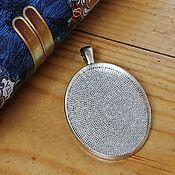 Материалы для творчества handmade. Livemaster - original item Base for the pendant, 30h40 mm. Art.OKL34. Handmade.