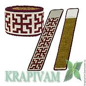 Украшения handmade. Livemaster - original item Bracelet nettle with Slavic symbols Bunny. Handmade.