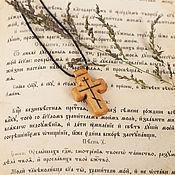 """Работы для детей, ручной работы. Ярмарка Мастеров - ручная работа """"Титло"""" - деревянный нательный крест из кипариса. Handmade."""