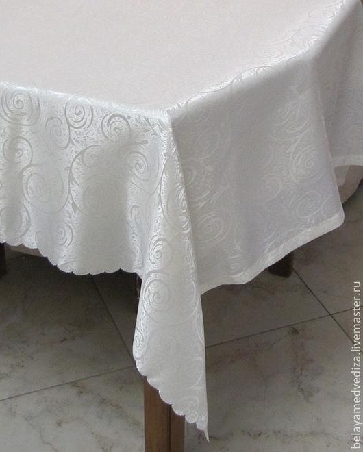 Текстиль, ковры ручной работы. Ярмарка Мастеров - ручная работа. Купить Скатерть цвета шампань 2.4м х 1.3м. Handmade.