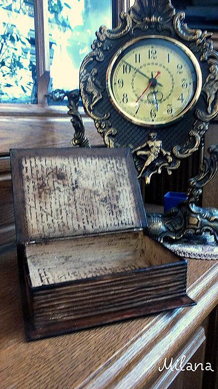 шкатулка, шкатулка-книга, шкатулка декупаж, декупаж шкатулки, шкатулка в подарок, подарок книголюбу, ретро- шкатулка, шкатулка ручной работы, шкатулка для мелочей