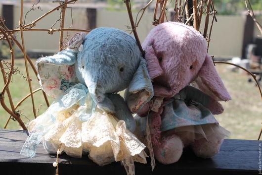 Мишки Тедди ручной работы. Ярмарка Мастеров - ручная работа. Купить Слоники -двойняшки. Handmade. Комбинированный, авторский слоник, трикотаж