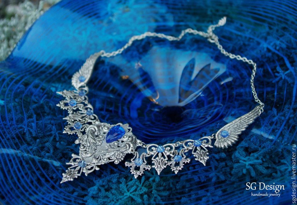 Necklace silver Selena Kyanite Blue Prom 2015, Necklace, Yalta,  Фото №1