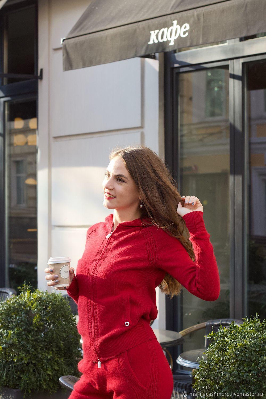 Кашемировый костюм с капюшоном хаки, Костюмы, Москва,  Фото №1