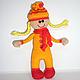 Вязаная кукла Задорная Апельсинка