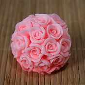 Материалы для творчества handmade. Livemaster - original item Silicone mold for soap Bowl of roses average. Handmade.