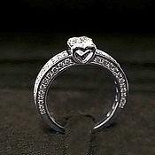 Украшения handmade. Livemaster - original item Copy of Platinum ring with 4 ct diamond. Handmade.