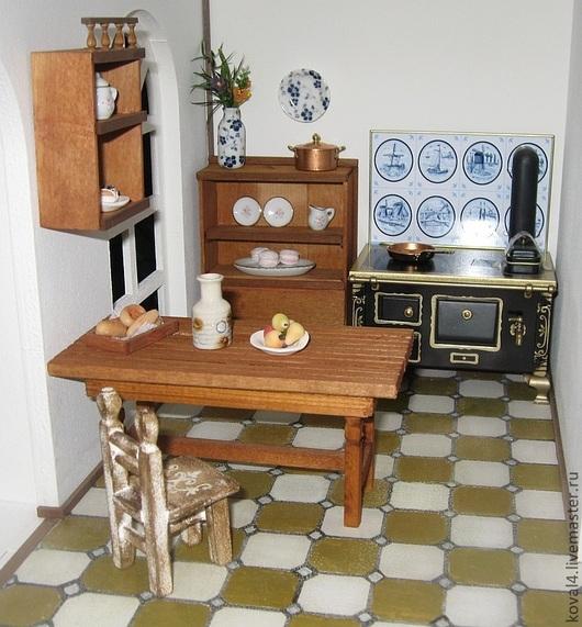 Кукольный дом ручной работы. Ярмарка Мастеров - ручная работа. Купить Кухня в кукольном домике. Handmade. Кукольный дом