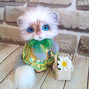 Куклы и игрушки ручной работы. Ярмарка Мастеров - ручная работа кошечка Лето. Handmade.