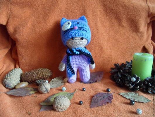 Игрушки животные, ручной работы. Ярмарка Мастеров - ручная работа. Купить Пупс йо-йо кот. Handmade. Комбинированный